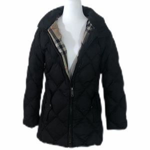 Authentic Burberry Quilted Down Puffer Coat Size S
